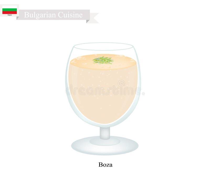 Bebida búlgara tradicional de Boza com grão-de-bico Roasted ilustração royalty free