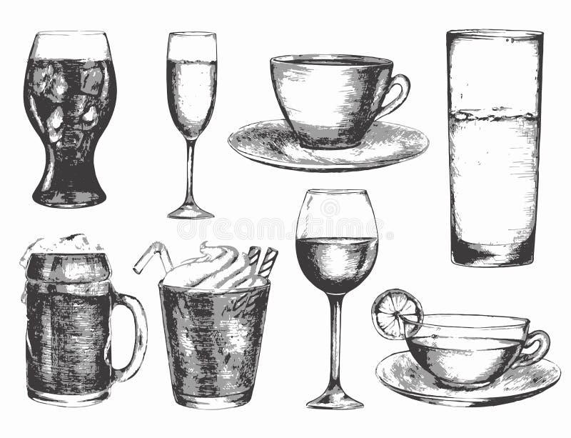 Bebida blanco y negro libre illustration