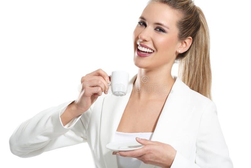 Download Bebida Bonita Nova Da Mulher Um Café Imagem de Stock - Imagem de beleza, cheerful: 29841375