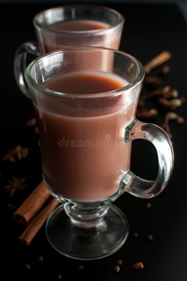 Bebida caliente del cacao o del chocolate imagen de archivo libre de regalías