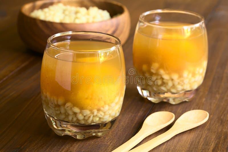 Bebida chilena de Huesillo do engodo do cisco imagem de stock