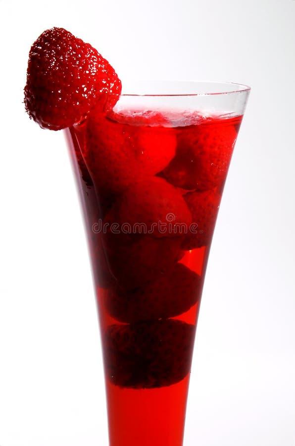 Bebida com uma morango foto de stock