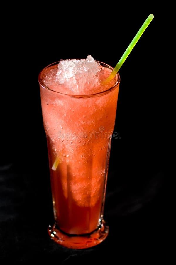 Bebida con sabor a fruta helada alta fotografía de archivo