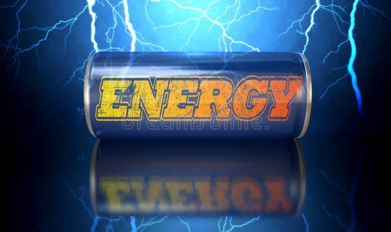 A bebida da energia pode ilustração do vetor
