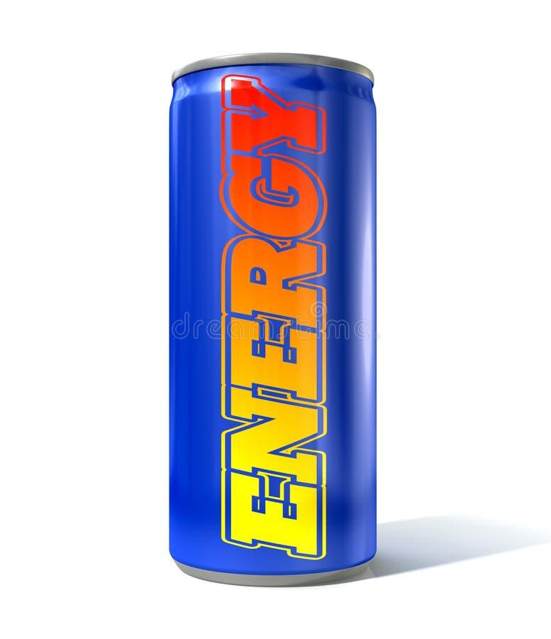 A bebida da energia pode ilustração stock