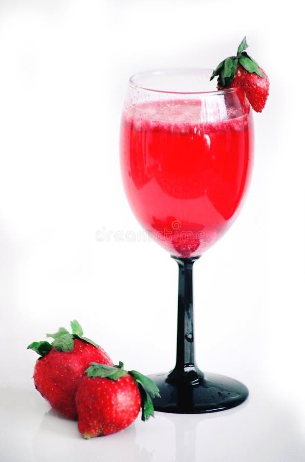 Bebida da morango foto de stock