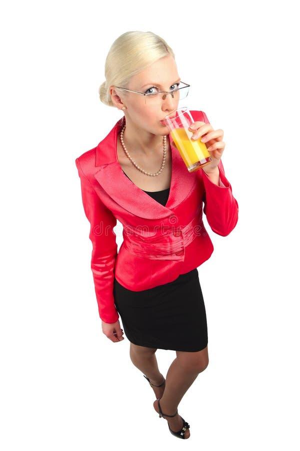 Bebida da mulher de negócio foto de stock royalty free