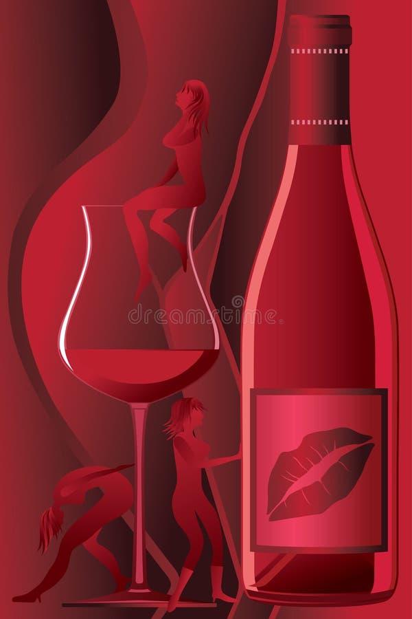 Bebida das senhoras ilustração royalty free