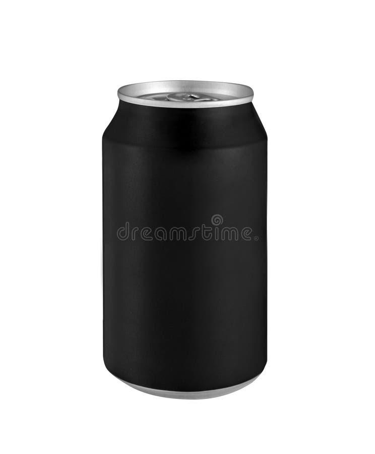 A bebida de alumínio da bebida do metal preto pode foto de stock royalty free
