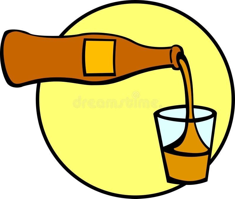 Bebida de colada en un vidrio stock de ilustración