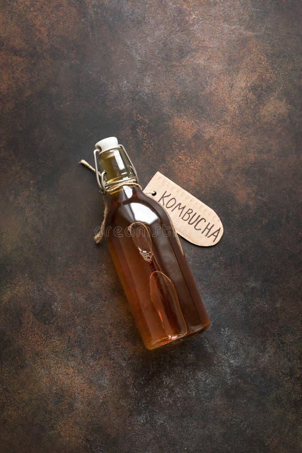 Bebida de Kombucha fotografia de stock