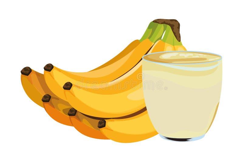 Bebida de la fruta tropical y del smoothie stock de ilustración