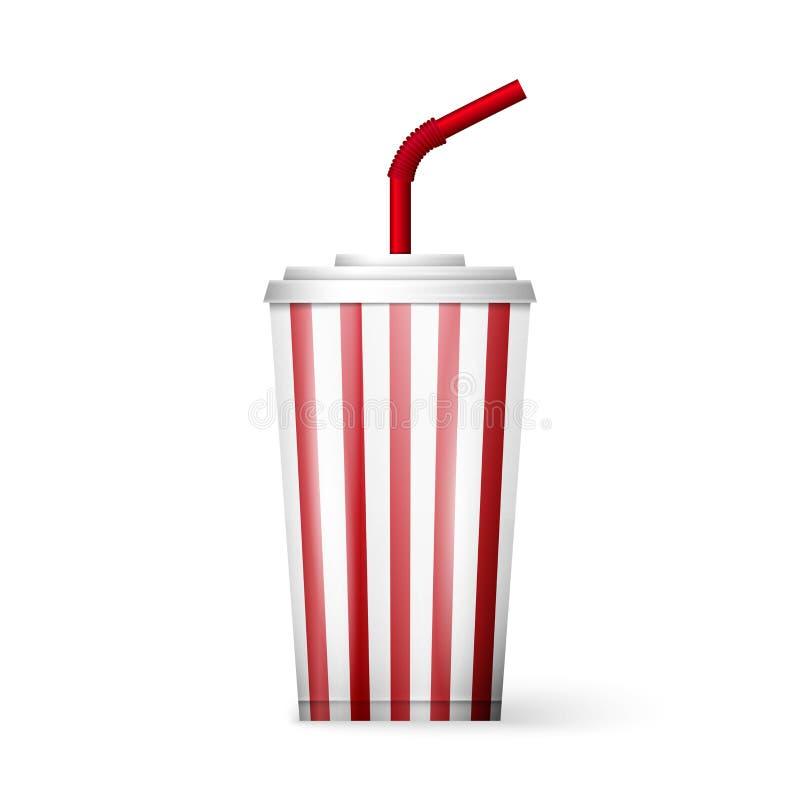 Bebida de la fuente de soda aislada en el fondo blanco libre illustration