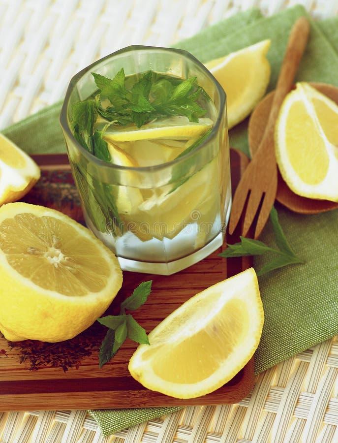 Bebida de la menta y del limón foto de archivo