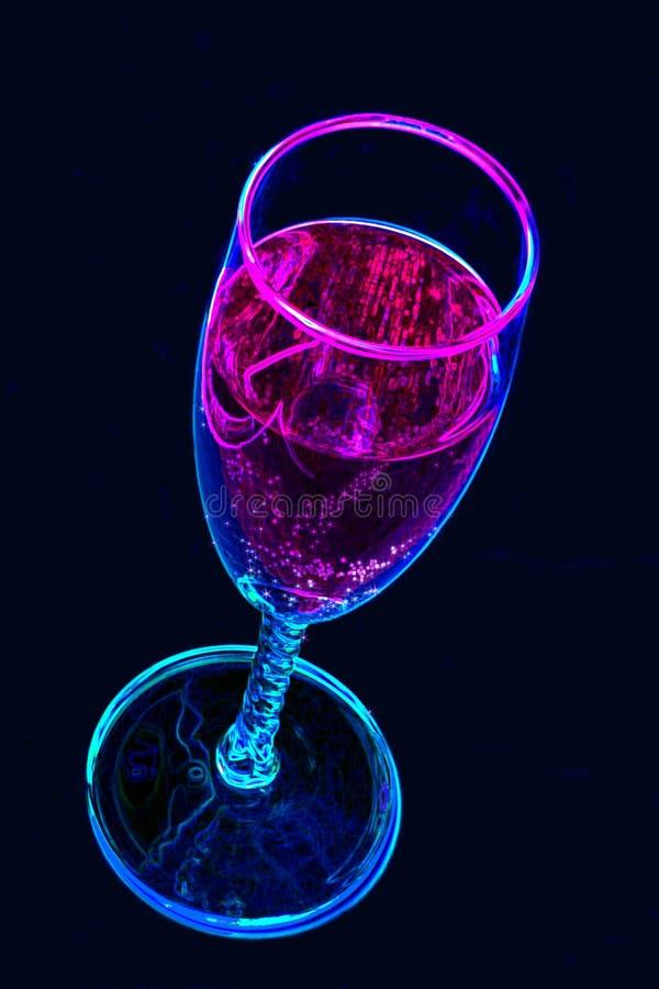 Bebida de neón ilustración del vector