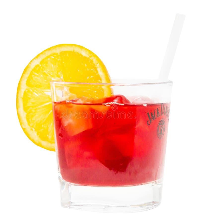 Bebida de Negroni foto de archivo libre de regalías