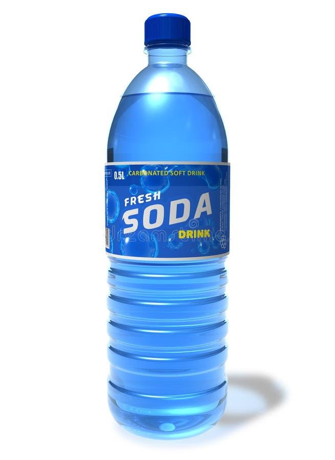 Bebida de refrescamento da soda no frasco plástico ilustração do vetor