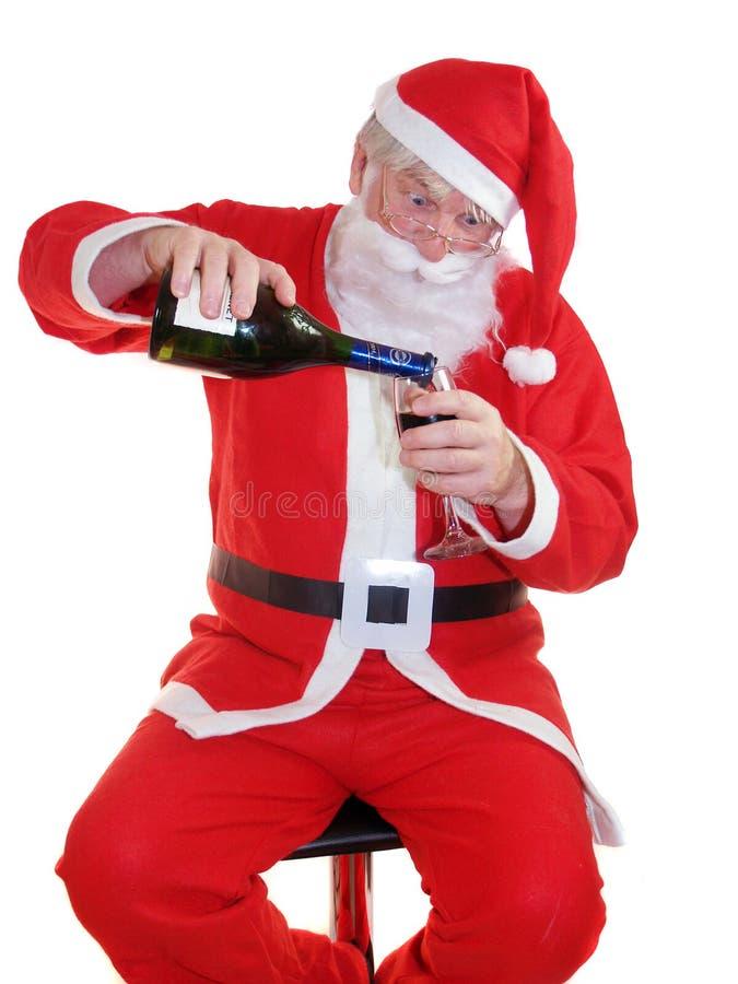 Bebida de Santa fotografia de stock