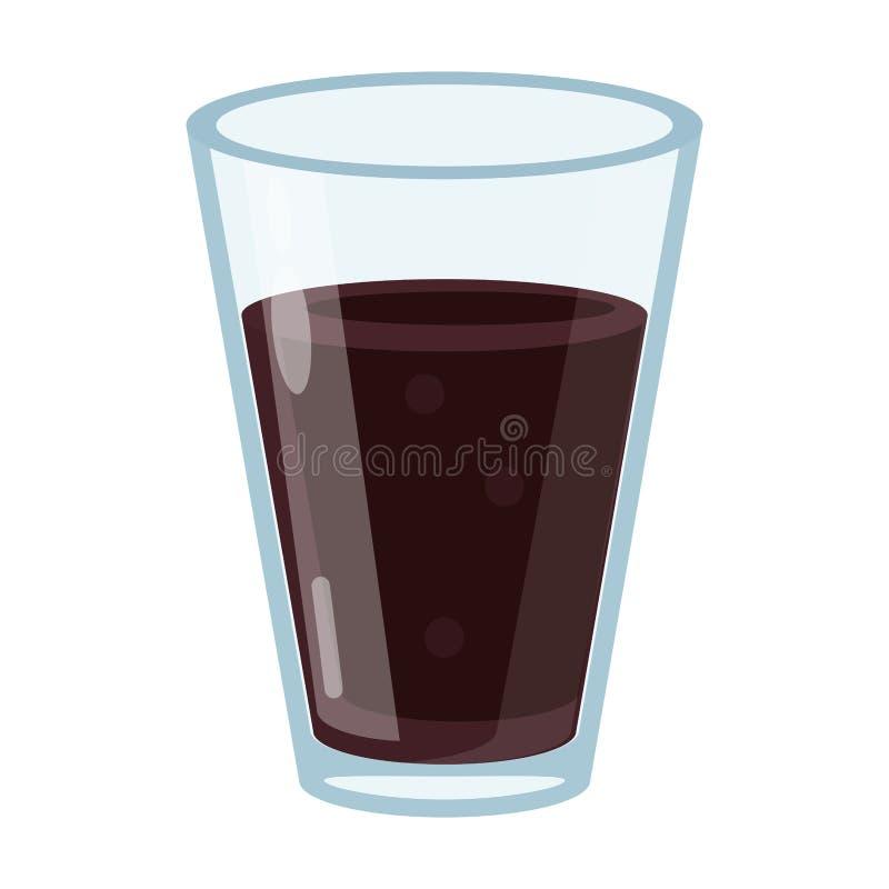 Bebida de vidro do copo do café ilustração do vetor