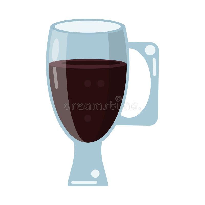 Bebida de vidro do copo do café ilustração royalty free