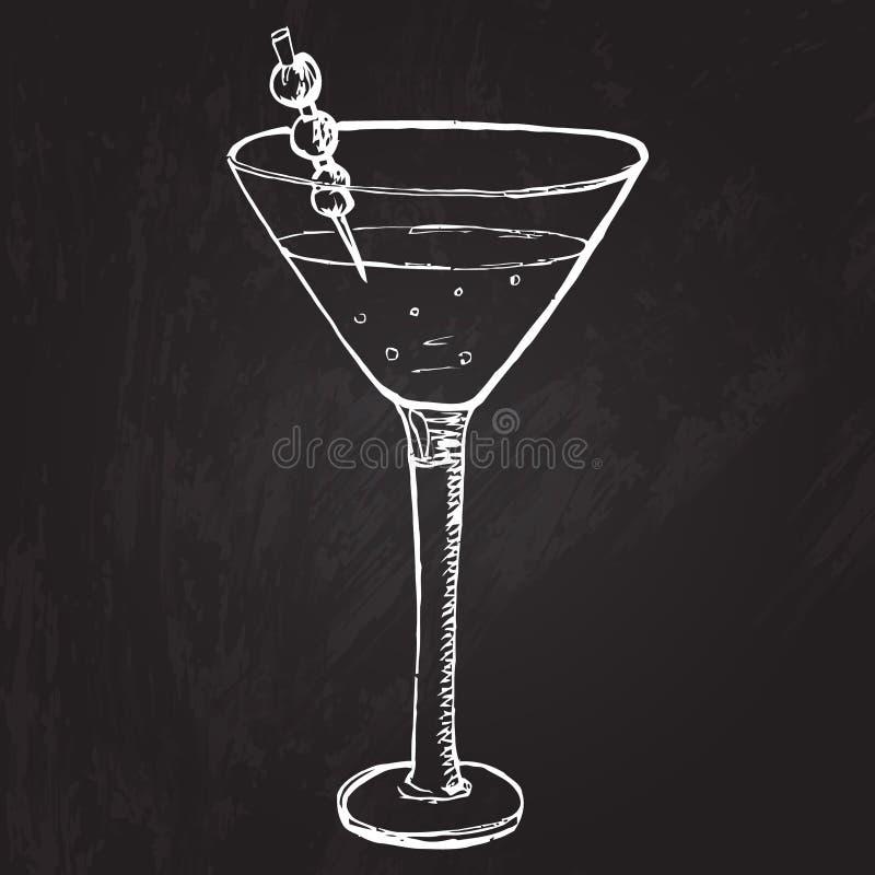 Bebida del alcohol con la decoración de las bayas en cóctel libre illustration