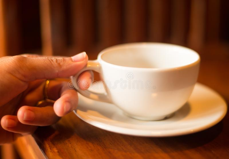 Bebida del café en rotura fotografía de archivo libre de regalías