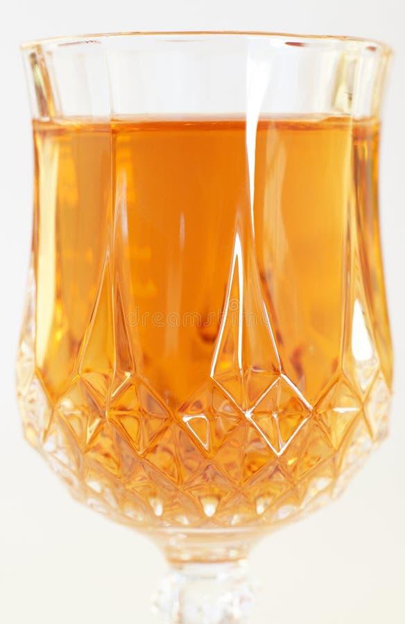 Bebida del jerez en el vidrio cristalino imagen de archivo libre de regalías