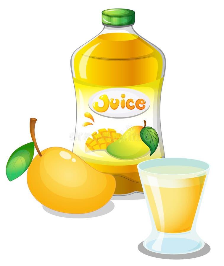 Bebida del jugo del mango stock de ilustración