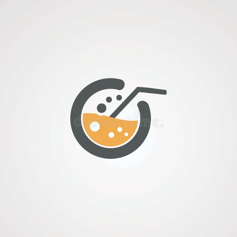 Bebida del laboratorio con vector, el icono, el elemento, y la plantilla del logotipo del agua de la burbuja para la compañía libre illustration