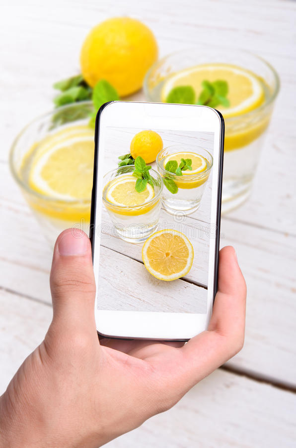 Bebida del limón imagen de archivo libre de regalías