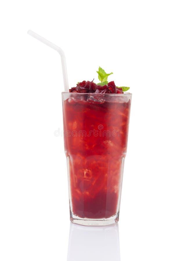 Bebida del mocktail de Roselle fotos de archivo