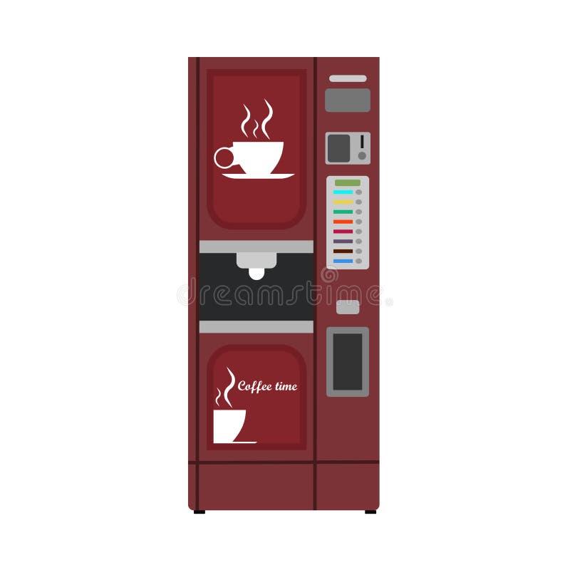 Bebida del negocio del icono del vector del café de la máquina expendedora Compre la comida bebida automática del dispensador Boc stock de ilustración