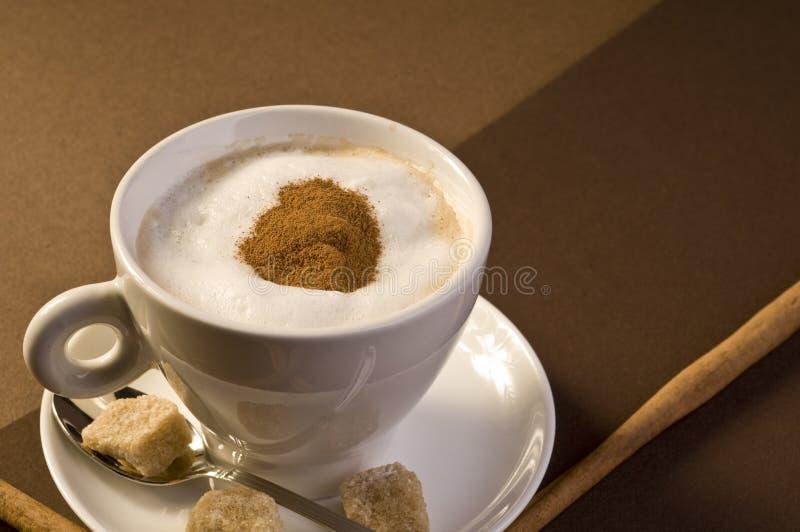 Bebida do café do Cappuccino imagem de stock