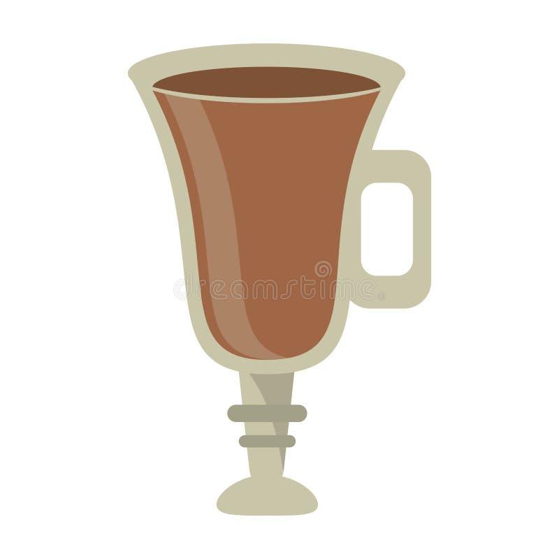 Bebida do café no copo de vidro ilustração royalty free