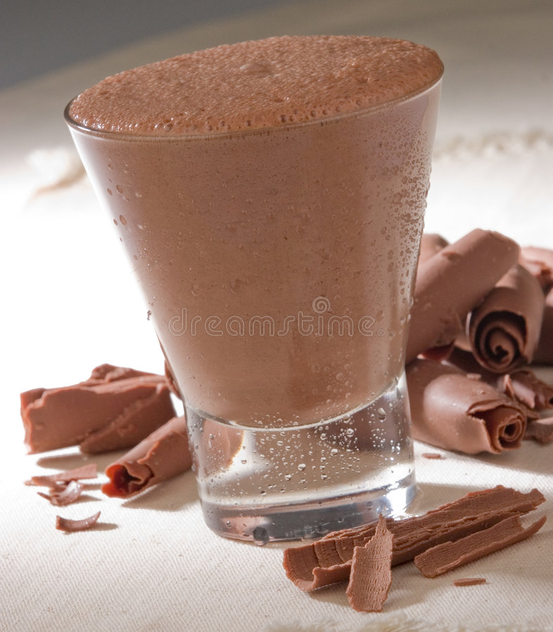 Bebida do chocolate imagem de stock