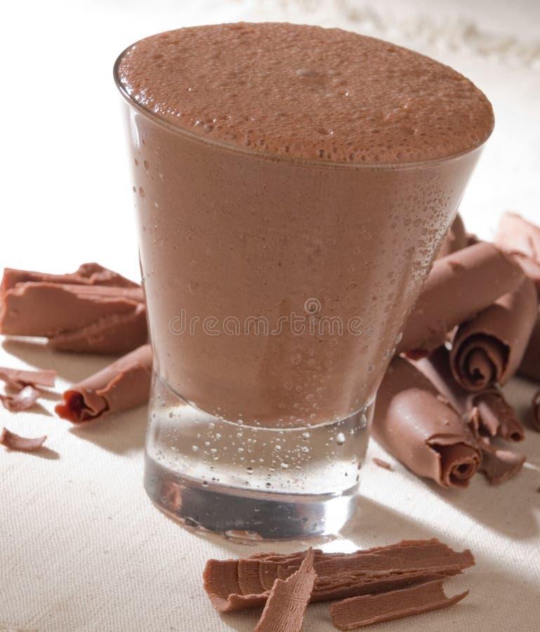 Bebida do chocolate fotografia de stock