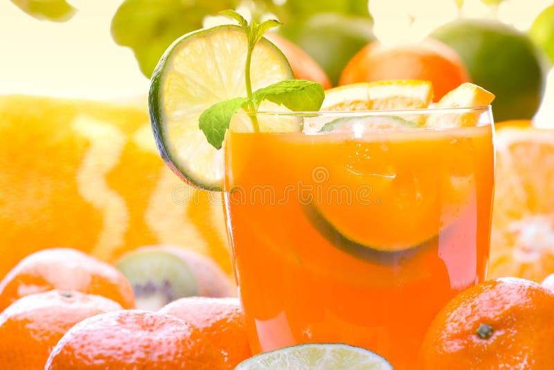 Bebida do citrino fotografia de stock