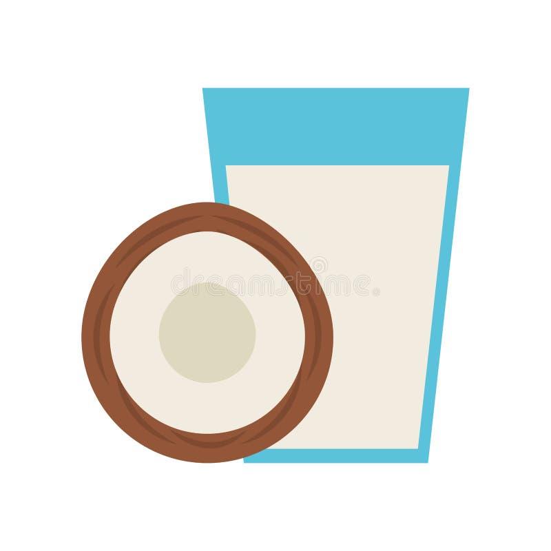 Bebida do fruto tropical do suco do coco ilustração do vetor