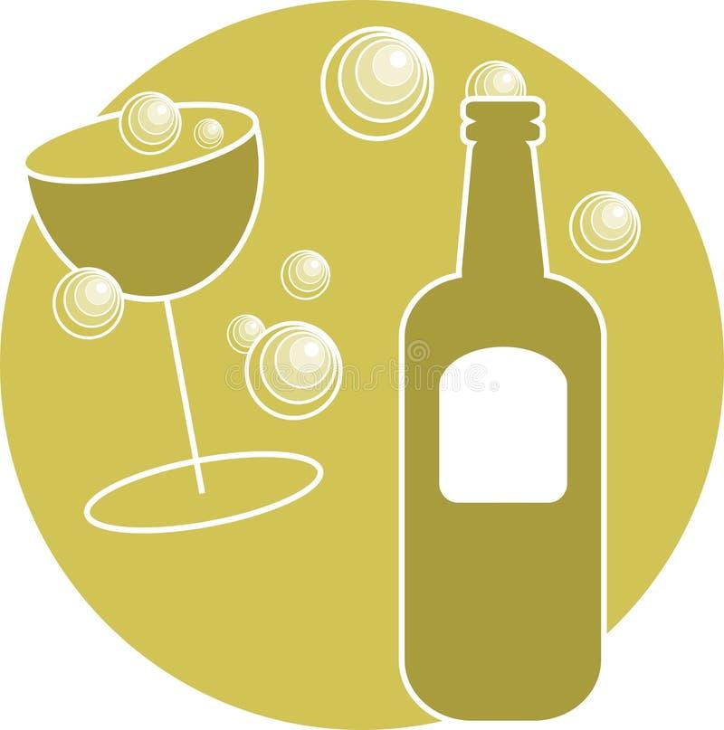 Bebida do partido ilustração royalty free