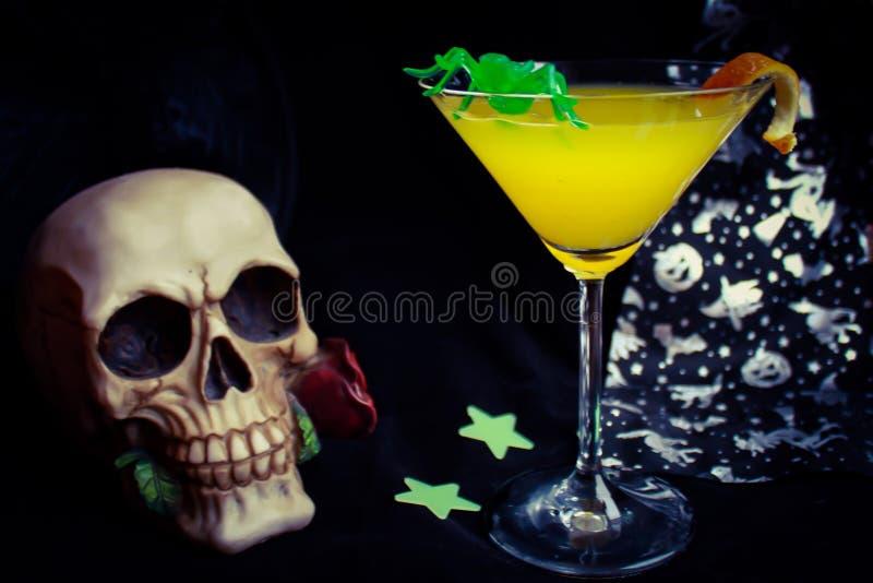 Bebida do partido de Dia das Bruxas fotografia de stock royalty free
