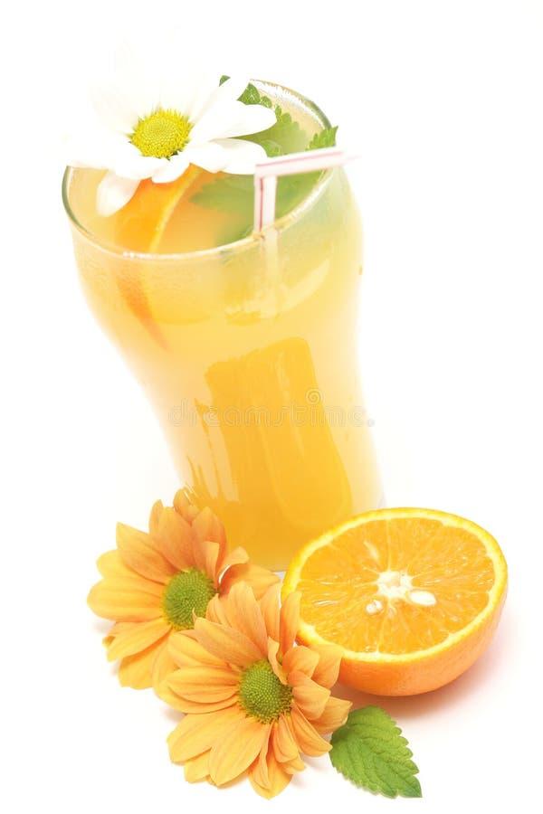 Bebida do sumo de laranja fotografia de stock