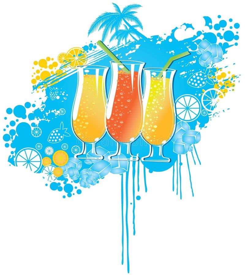Bebida do verão ilustração do vetor