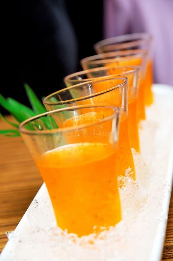 Bebida do vinagre da ameixa do gelo fotografia de stock royalty free