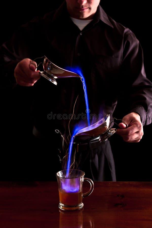 Bebida flamejante fotografia de stock royalty free
