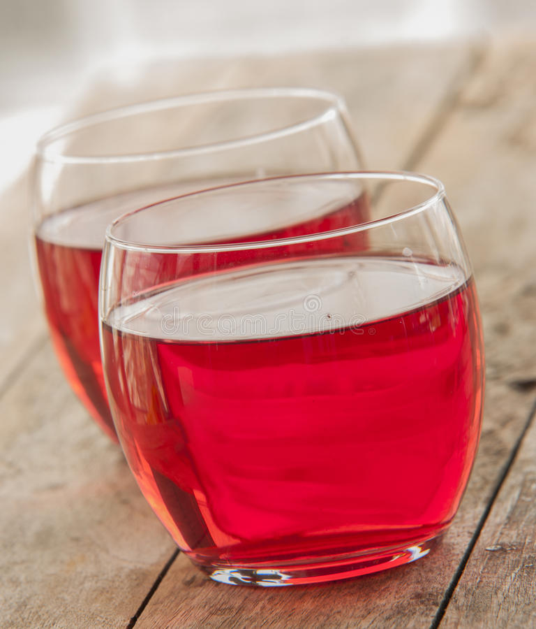 Bebida fría de la fresa imagen de archivo