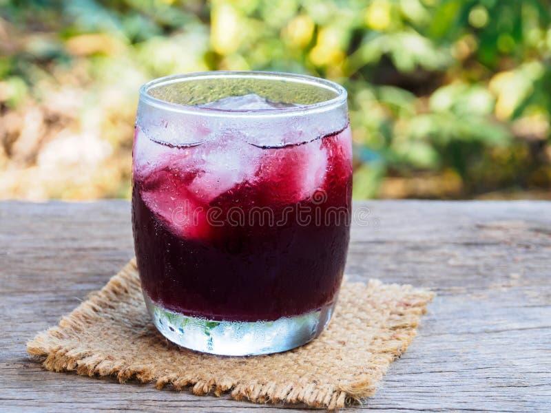 Bebida fría roja para el saco fresco 0n imagen de archivo