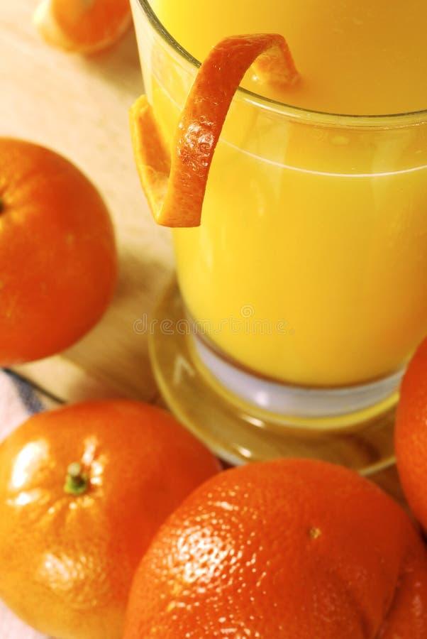Bebida fresca del zumo de naranja fotografía de archivo