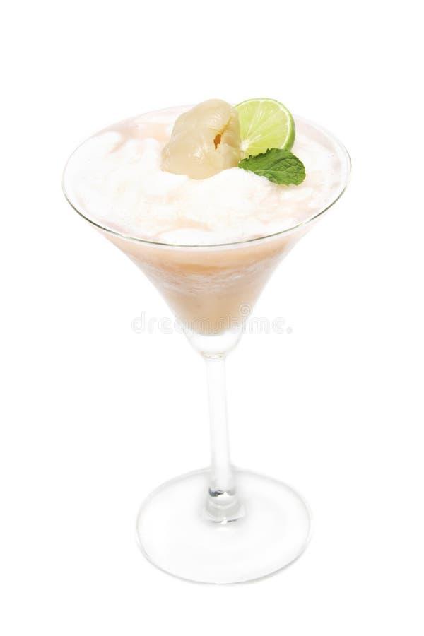 Bebida fresca, smoothie de Lychee foto de stock royalty free