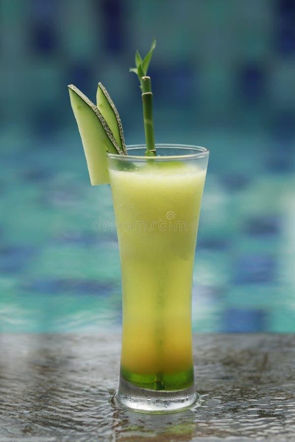 Bebida mezclada de Mocktail del jugo y del melón de limón imágenes de archivo libres de regalías