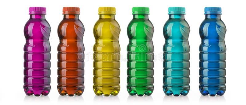 Bebida na garrafa plástica imagem de stock royalty free